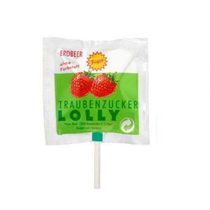 Piruleta de fresa sin fructosa