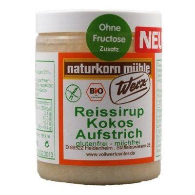 Crema de coco con jarabe de arroz